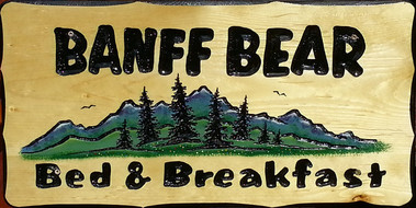 Banff Bear Bed And Breakfast sign